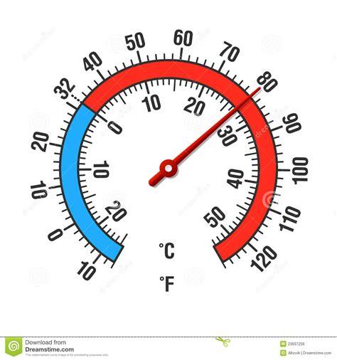Termometer Fahrenheit celsius fahrenheit termometer vektor illustrationer