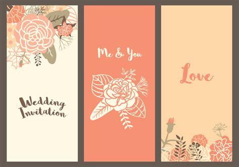 vector carnation wedding templates   vectors