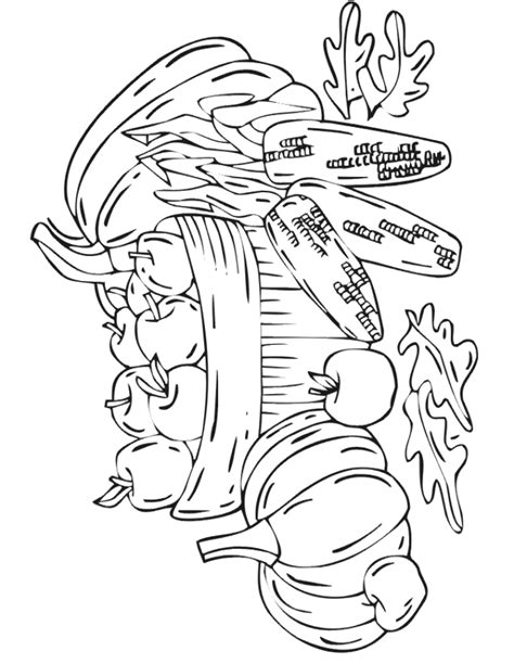 free printable fall coloring page autumn harvest