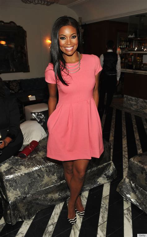 Style Gabrielle Union Fabsugar Want Need by Gabrielle Union In Shoshanna Look Of The Day Huffpost