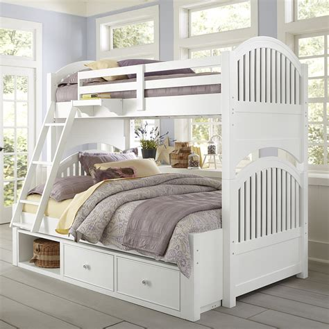 lake house adrian twin  full bunk bed kids trundle beds  hayneedle