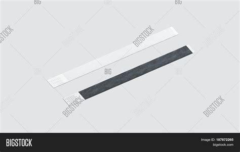 Blank Black White Paper Wristband Image Photo Bigstock Paper Wristband Template