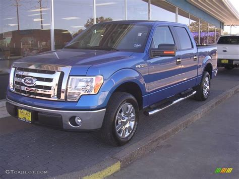 2009 Ford F150 by 2009 Blue Metallic Ford F150 Xlt Supercrew 1347784