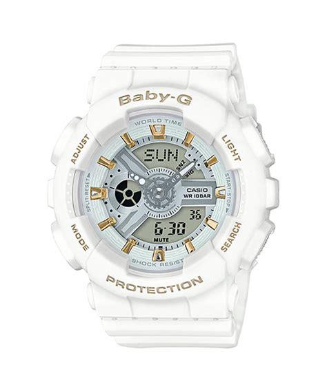 Casio Baby G Ba 110ga 7 A2dr Water Resistant 100 M baby g black white ecru gray ba 110ga