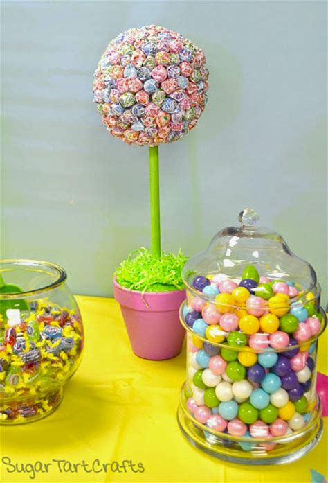 lollipop topiary sugar tart crafts dum dum lollipop topiaries
