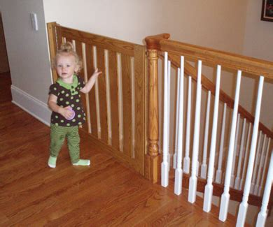 Top Of Stairs Banister Baby Gate Gatekeepers Baby Gates And Kid Gates Swing Gates For