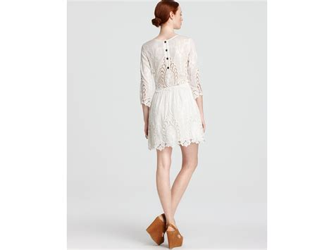 Dv Dress dolce vita dv lace dress valentina in white lyst