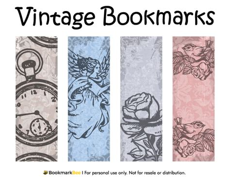 printable bookmarks pdf free printable vintage bookmarks download the pdf