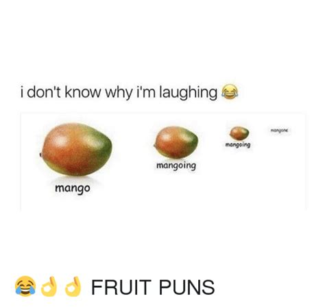 fruit puns i don t why i m laughing mangone mangoing mangoing