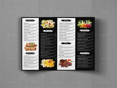bifold food menu brochure template by geelator graphicriver