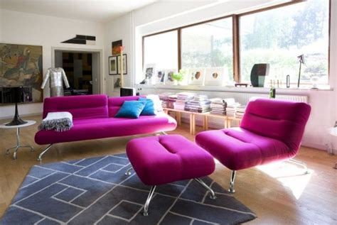 pink living room chair small ceiling fans for kitchen home design ideas for