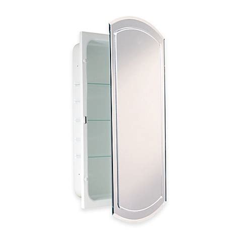Recessed V Groove Beveled Recessed Mirrored Medicine