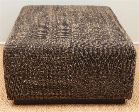 Fabric Covered Ottomans Ottoman Covered With Handwoven Indian Fabric At 1stdibs