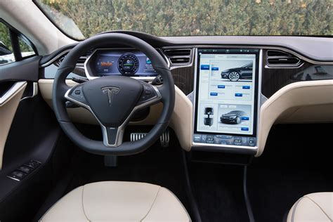 new interior image of tesla model 3 surfaces tesla model s pictures auto express