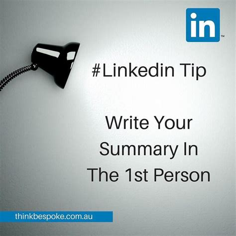 Resume 1st Or 3rd Person by Best 25 Linkedin Summary Ideas On Resume