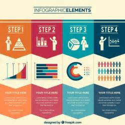 easy infographic template business steps infographic vector free