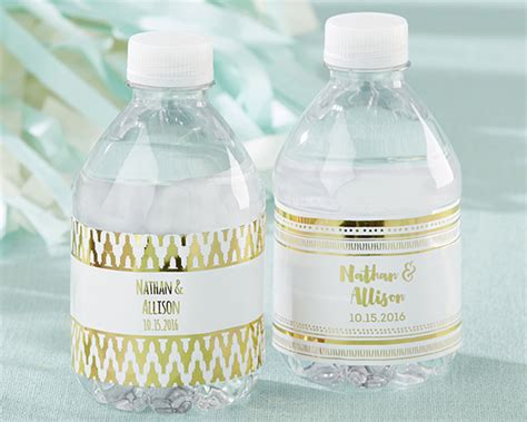 Wedding Water Bottle Labels by Personalized Gold Foil Water Bottle Labels My Wedding Favors
