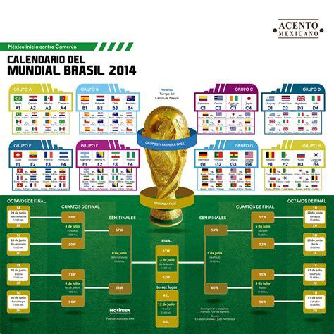 calendario mundial brasil 2014 soccer