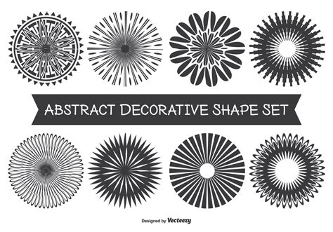Chape Decorative by Assorted Abstract Decorative Shape Set Free