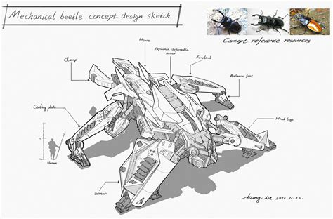 concept art tutorial sketchbook pro artstation a large beetle concept sketch xu zhang