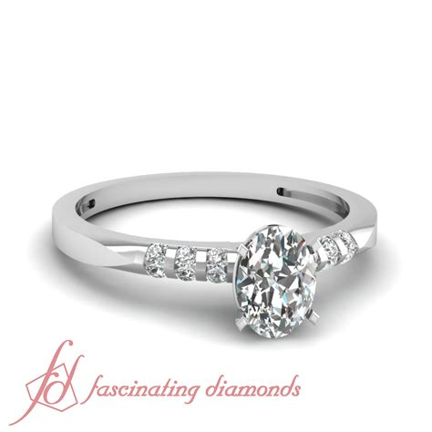 unique looking engagement ring channel set 0 65 ct oval