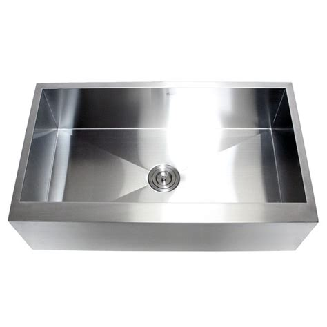 Stainless Steel Apron Front Kitchen Sink 36 Inch Stainless Steel Single Bowl Flat Front Farm Apron Kitchen Sink