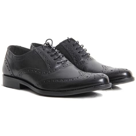 office shoes oxford mens lace up genuine leather brogued oxfords smart