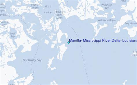 louisiana delta map manilla mississippi river delta louisiana tide station