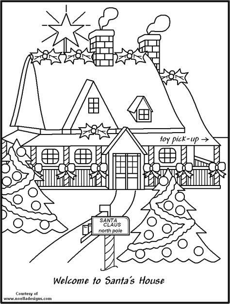 Coloring Pictures Of Santa Workshop | free coloring pages of santa workshop