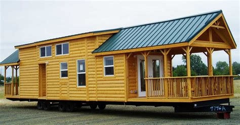 Portable Log Cabin Homes by The Cascade Lodge A Portable Park Model Log Cabin With
