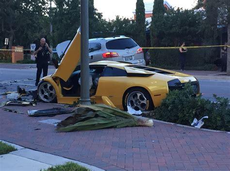 lamborghini crash man killed in lamborghini street racing crash in florida