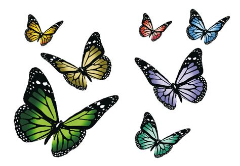 butterflies wall decals colorful decoration for springtime