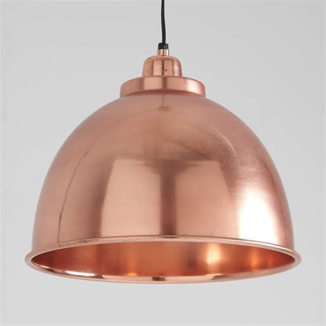 Copper Pendant Light Uk Copper Plated Aluminium Pendant Light By Horsfall Wright Notonthehighstreet