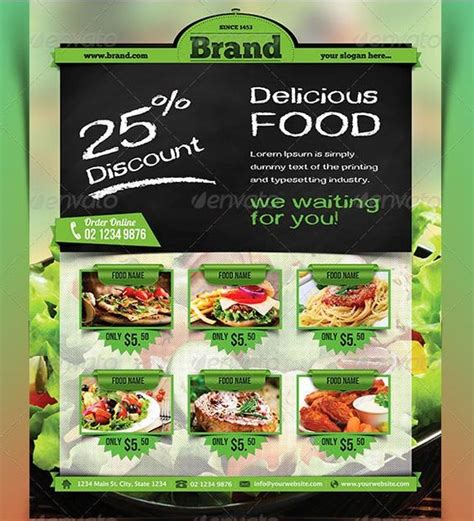 free templates for food flyers 45 best restaurant flyer templates free and premium to