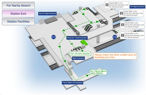 Narita Airport Floor Plan Ueno Station Map Station Information Keisei Electric