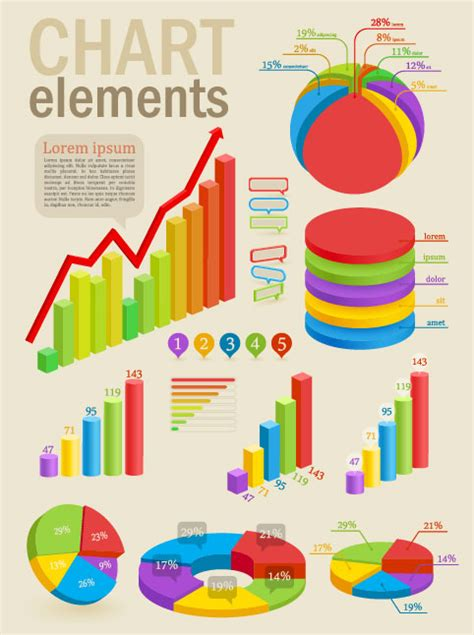 Infographics And Chart Design Elements Vector Set | infographics and chart design elements vector set by