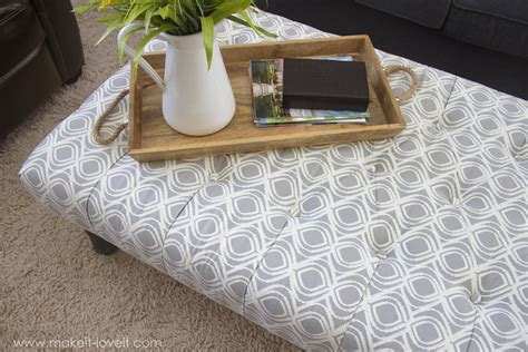 diy tufted fabric ottoman from an table make