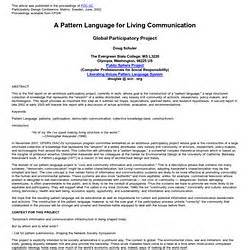 pattern language conference pattern language pearltrees