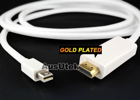 Mini Display To Hdmi Cable 1 8m mini displayport to hdmi adapter cable 1 8m for microsoft