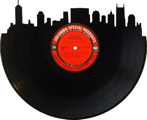 Nashville Records Nashville Skyline Record Wall And Silhouette Vinyl On