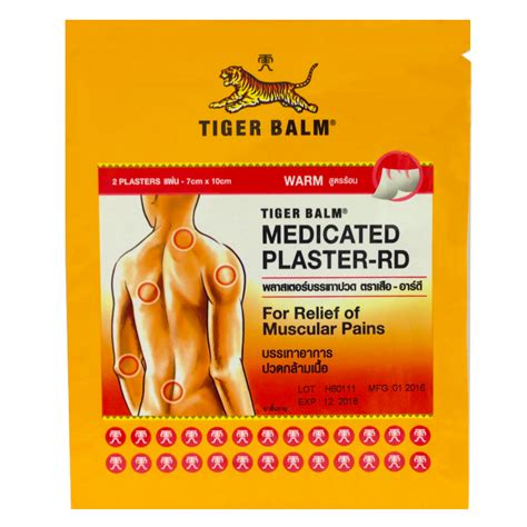 Tiger Balm Plaster Rd use tiger balm relief sore muscles muscles
