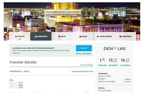 las vegas package deals from denver