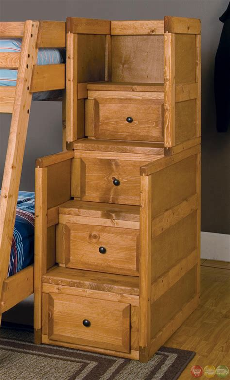 bunk beds with storage drawers wrangle full over full bunk bed with storage drawers