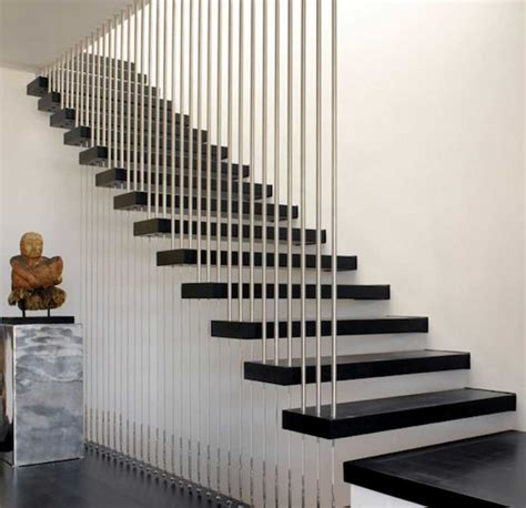 stunning staircase rail with a modern design with