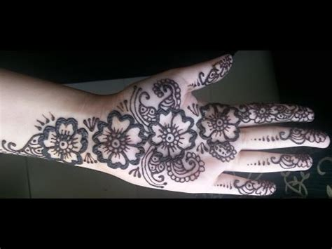 tattoo on roshni s hand easy full hand mendhi design by roshni doovi