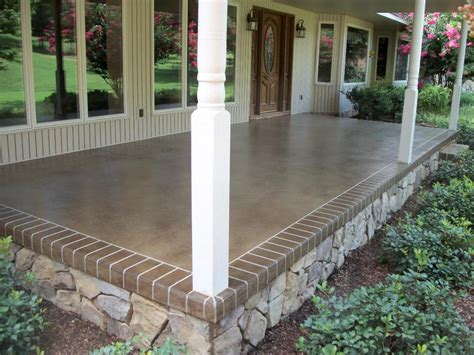 Cement Front Porch southern concrete designs llc photo gallery 2