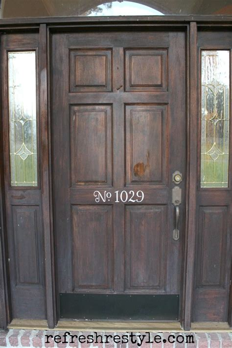 How To Stain A Door by How To Stain Your Front Door Refresh Restyle