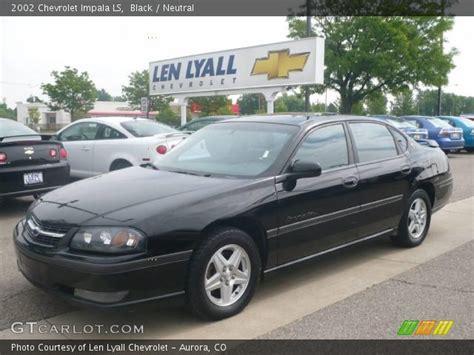 2002 chevy impala black black 2002 chevrolet impala ls neutral interior