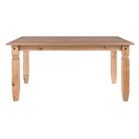 corona solid pine medium dining table 5ft cor021
