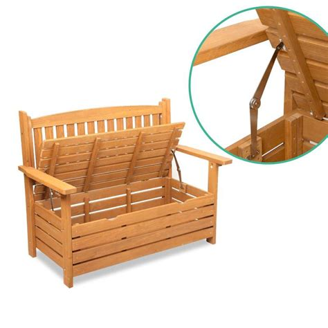 2 seater storage bench 2 seater wooden slat outdoor garden storage bench buy